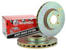 Brembo Drilled Rear Brake Discs